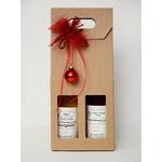 Geschenkbox,-2-Honigweine,-rote-Schleife