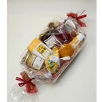 Geschenkkorb-mit-Honig,-Kosmetik,-Bärenfang,-Bienenwachskerze