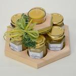 Rondell,-6-Honig,1-Teelicht