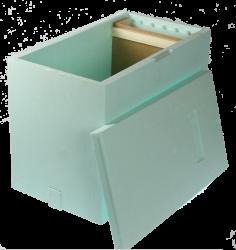 0.1020 Sipa Ablegerkasten aus Styropor für 6 Waben Dadant Blatt oder Zander Image